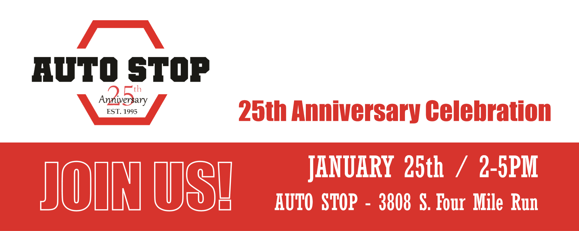 Auto Stop celebrating 25 years in business this January