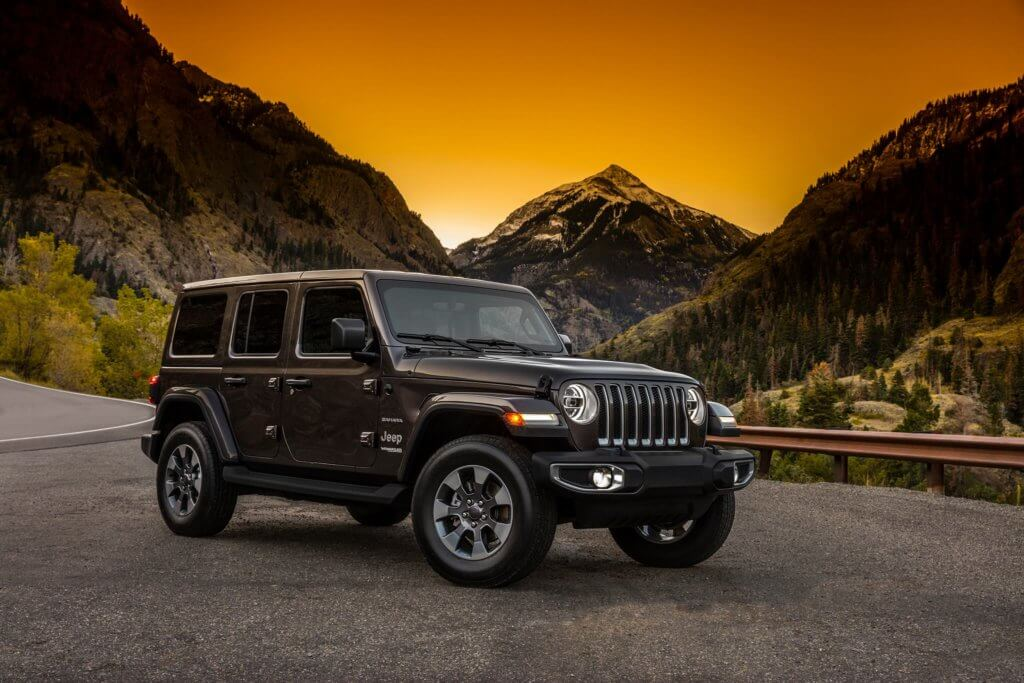 A front view of the all new Jeep Wrangler JL