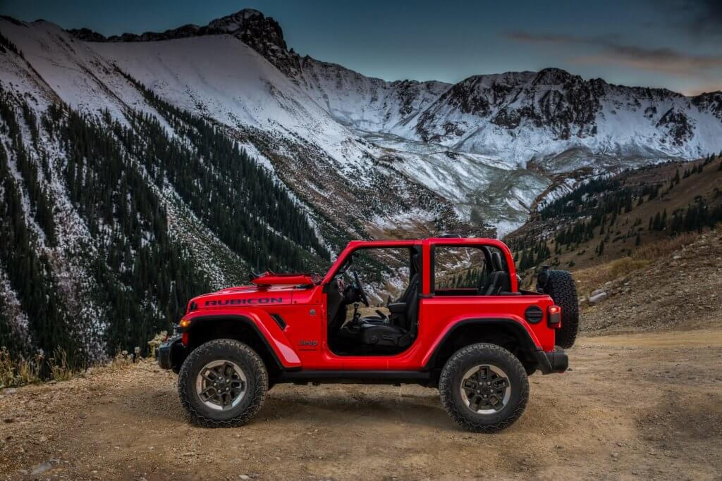 A side shot of the all new Jeep Wrangler JL