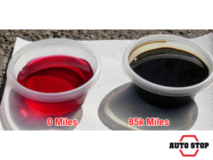 Transmission fluid before and after 85,000 miles in a transmission